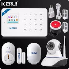 aliexpress com buy 2017 kerui w18 wifi gsm sms home burglar
