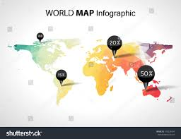 World Map Pins by Vector Abstract 3d World Map Pins Stock Vector 160229504