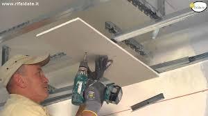 fare un controsoffitto in cartongesso lavori cartongesso posa dell orditura metallica