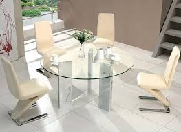kitchen table round 6 chairs the best of large 140cm round glass dining table 6 chairs 500 00