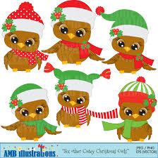 owl christmas clip art clip art library