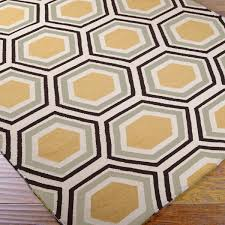 Grey Dhurrie Rug Honeycomb Dhurrie Rug Dhurrie Rugs Accent Rugs And Bold Colors