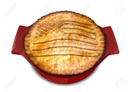 Pot Flag A Cooked Puff Pastry Pot Pie On A Plate With The American Flag