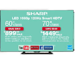 60 tv black friday sharp 60inch lc 60le660u led smart tv deal at sears black friday