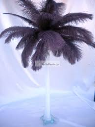 ostrich feather centerpieces feather plume palm tree chocalate brown ostrich feather