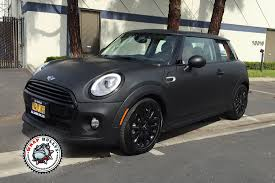 matte black mini cooper car wrap wrap bullys