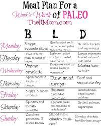 paleo week one meal plan paleo meals menu planning and menu