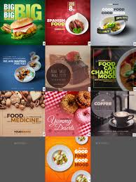 instagram cuisine 50 food instagram banners by graycells graphic graphicriver