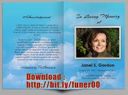 Memorial Pamphlets Samples Free Funeral Program Templates