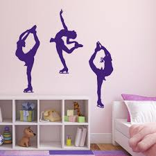 popular wall stickers dance buy cheap wall stickers dance lots girls room decoration ice skating dance sports wall sticker vinyl pvc home decor wall murals kw