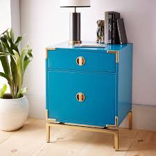 West Elm Bedroom Furniture by Http Www Westelm Com Products Malone Campaign Nightstand Blue