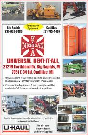 party supplies for rent universal rent it all northern michigan construction equipment