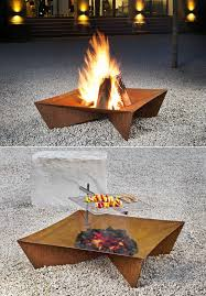 Bbq Side Table Plans Fire Pit Design Ideas - 35 metal fire pit designs and outdoor setting ideas outdoors and