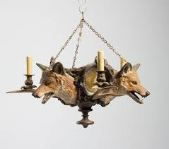 Lodge Lighting Chandeliers Hunting Lodge Hanging Chandelier With Antlers And Wolves U0027 Heads