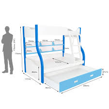 Buy Bunk Bed Online India Columbia Bunk With Trundle Bed Kids Bunk Beds Online Shopping