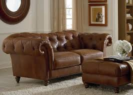 Natuzzi Brown Leather Sofa Orleans Tufted Leather Sofa By Natuzzi Glamour And