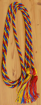 graduation cord royal blue and gold braided honor cords intertwined cords