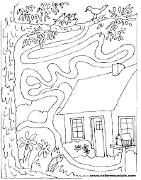spring maze coloring sheet create a printout or activity