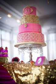 pink and gold wedding cake 2512494 weddbook