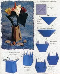 Simple Origami Vase - origami vase