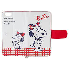 snoopy ribbon snoopy iphone 6 4 7 flip wallet cover card slot