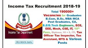 civil engineering jobs in india salary tax it 20750 income tax department recruitment 2018 2019