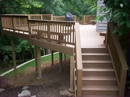 outdoor fabulous deck railing brackets deck stairs with landing