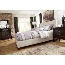 Beige Upholstered Bed Martini Suite Bedroom Set W Light Beige Upholstered Bed Signature