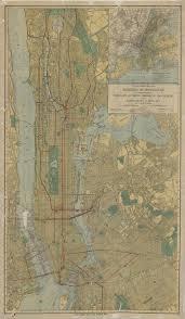 New York City Subway Street Map by Transit Maps Olin U0026 Uris Libraries
