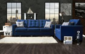 blue couch decorating ideas brown teak wood ikea credenza mahogany