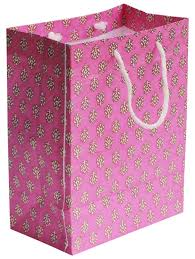 gift bags bulk pink eco friendly 8x10 paper bag with floral motifs white thread