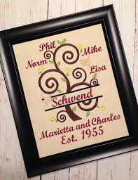 tree of family tree curly split personalized names