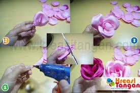 cara membuat bunga dari kertas pita jepang tutorial cara membuat handbouquet kreasi tangan