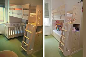 Loft Bed With Crib Underneath Crib Loft Bed Baby And Nursery Furnitures