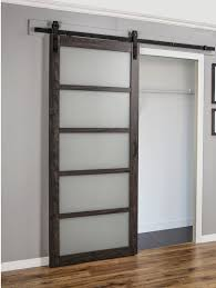 Closet Barn Doors Erias Home Designs Continental Frosted Glass 1 Panel Ironage