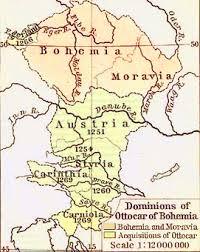 bohemia map map of the dominions of ottocar of bohemia 1378