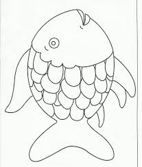 fish shapes to cut out coloring page free download