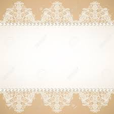 Blank Invitation Cards Templates Template For Wedding Invitation Or Greeting Card With Lace Fabric