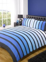 soho blue stripe duvet cover quilt bedding set blue double by