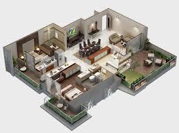 Floor Plans 3d 68 Best 3d Floor Plan Images On Pinterest 1 Bedroom Apartment