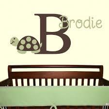 Turtle Nursery Decor Mod Turtle Wall Decal Monogram Name Vinyl Sticker Nursery Child