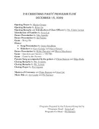 agenda christmas party agenda template