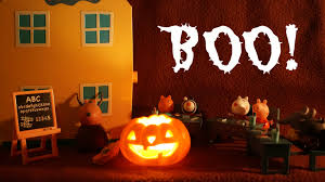 halloween rhyme trick or treat peppa pig classroom playset