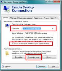 raccourci connexion bureau à distance publier des applications distantes depuis un poste de travail