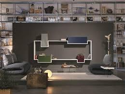 bookshelves and wall units creative way of using modular wall units along with a bookshelf