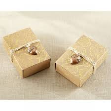 where to buy gold foil buy gold foil leaf favor box with acorn charm set of 24 online at