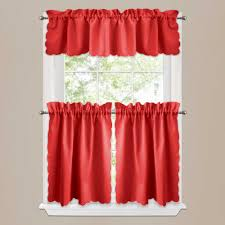 luxury red and black kitchen curtains taste