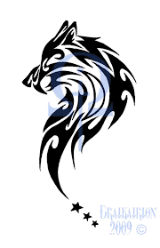 tribal wolf tattoo tribal sabertooth wolf tattoo by draikairion