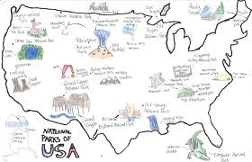National Park Map Usa by Usa Maps Osher Map Library