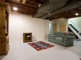 How To Install Pot Lights In Unfinished Basement Basement Renovation Transforms A Cold Space Into A Warm Family Room